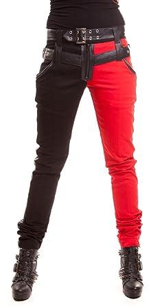 8a7dab502e76 Heartless Pantalon mi Noir mi Rouge