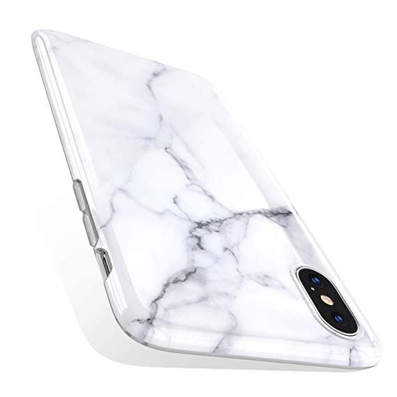 the best attitude 4d744 1c148 TORRAS Marble iPhone Xs Case/iPhone X Case, Ultra Thin Slim Case Soft  Marble White TPU Phone Case for iPhone X/iPhone Xs