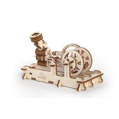 S.T.E.A.M. Line Toys UGears Mechanical Models 3-D Wooden Puzzle - Mechanical Pneumatic Engine: Toys & Games