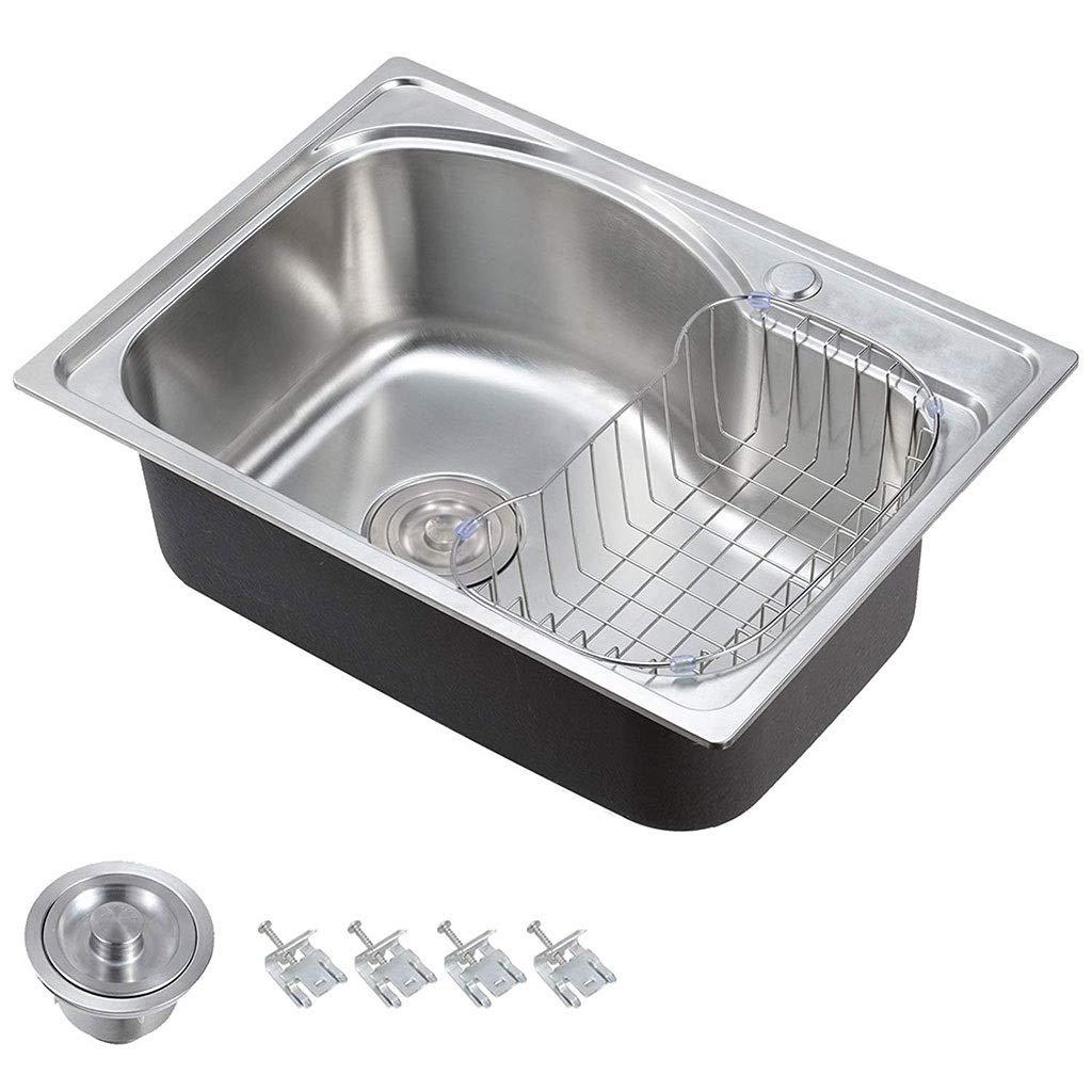 560x410mm 22x16.1 /évier de cuisine /à encastrer un bol en acier inoxydable 304 ultra-/épais de luxe fait main /Éviers de cuisine 0604