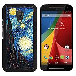 LOVE FOR Motorola G 2ND GEN II Gogh Starry Night Art Painting Personalized Design Custom DIY Case Cover