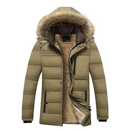 Yazidan Unisex Frau MäNner Outdoor Pelz Wollvlies Warm Winter Lange Kapuze Mantel  Jacke Herrenmantel WäRmemantel Winterjacke fe064696aa