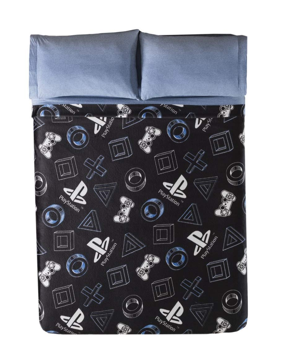 DreamPartyWorld Playstation Videogame Blanket Light Throw Boy Black Teens Twin Comforter Bedding by DreamPartyWorld