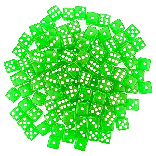 Edge Dice - Brybelly 100 Green Dice, 16mm, Green