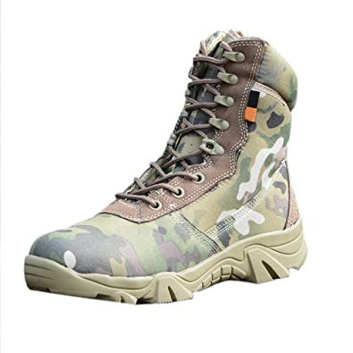 uirend Chaussures Travail Militaires Homme High Top