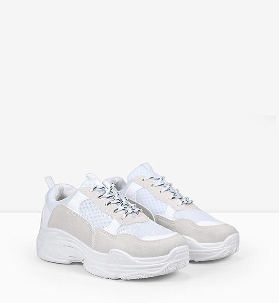 BOSANOVA Sneakers en Plataforma de Goma de 5 cm con Detalles ...
