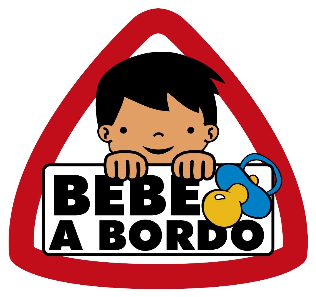 Pegatina Bebé a Bordo Grande Niño 90x95 mm. Ediciones Imagina S.L.