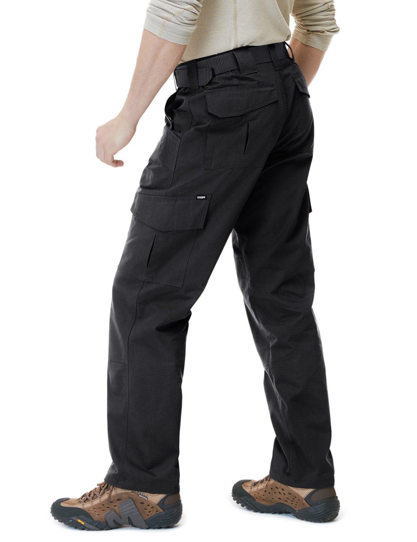CQR CQ-TLP104-BLK_34W/34L Men's Tactical Pants Lightweight EDC Assault Cargo TLP101/102/103/104 by CQR (Image #4)