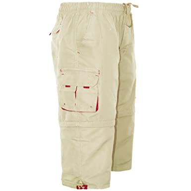 8f32dab8f3 MENS 3/4 SHORTS 2 IN 1 CARGO COMBAT ZIP OFF SUMMER JOGGING CASUAL TROUSERS  S M L XL XXL: Amazon.co.uk: Clothing