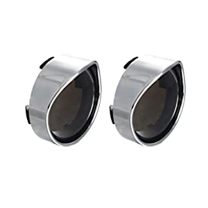 NTHREEAUTO Smoked Bullet Turn Signal Light Lens Cover with Chrome Visors Compatible with Harley Dyna Street Glide Road King Fatboy