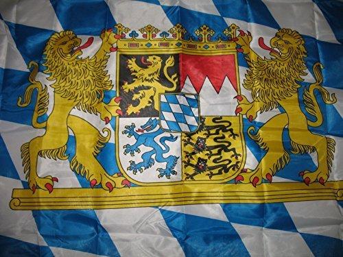 3x5 Bavaria Lion Crest Nylon Double Sided Flag 3'x5' Bavarian Oktoberfest German (Nylon Custom Flags)