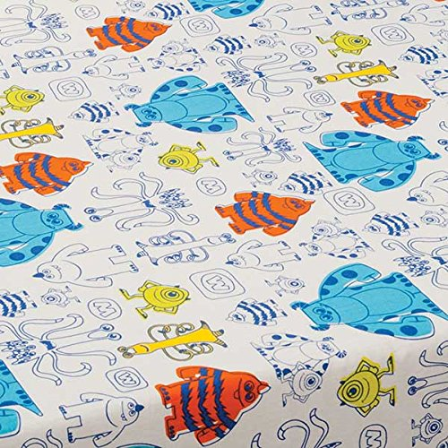 Monsters Inc. Fitted Sheet - different from sheet in set by KidsLine (Monsters Inc Fitted Crib Sheet compare prices)