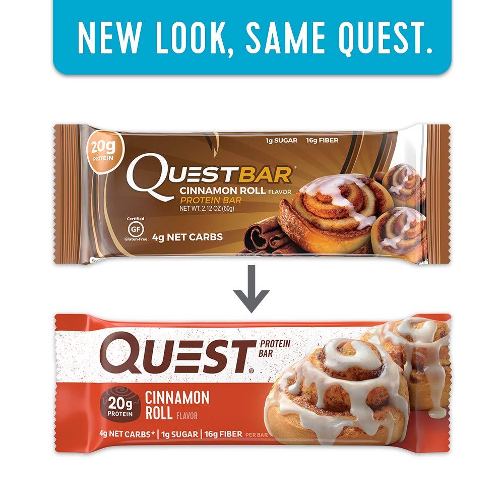 Quest Nutrition Cinnamon Roll Protein Bars - Pack of 12 Protein Bars: Amazon.es: Salud y cuidado personal