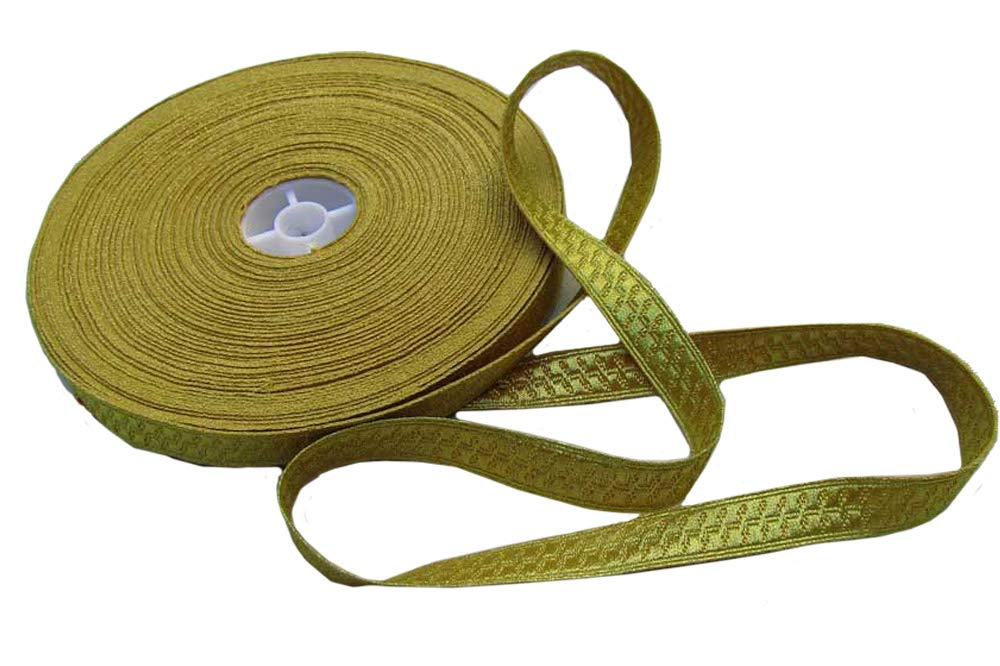 AAR Gold Metallic Uniform Trim Pilot Galon Edging Goldenlite Braid Army Military Dresses 18yds by AAR