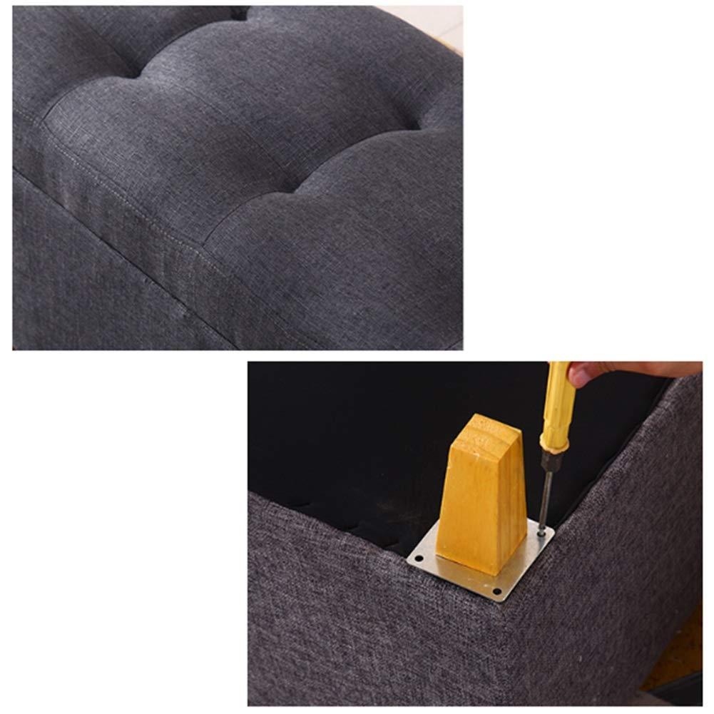 8 Colori 4 Dimensioni AHAI YU Scatola di immagazzinaggio Multifunzionale Moderna del poggiapiedi Pad Rettangolare del Piede con la Copertura Che Veste Lo Sgabello e Cuscino del Salone