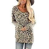 lotus.flower Women's Sexy O-Neck Leopard Print Long Sleeve T-Shirt