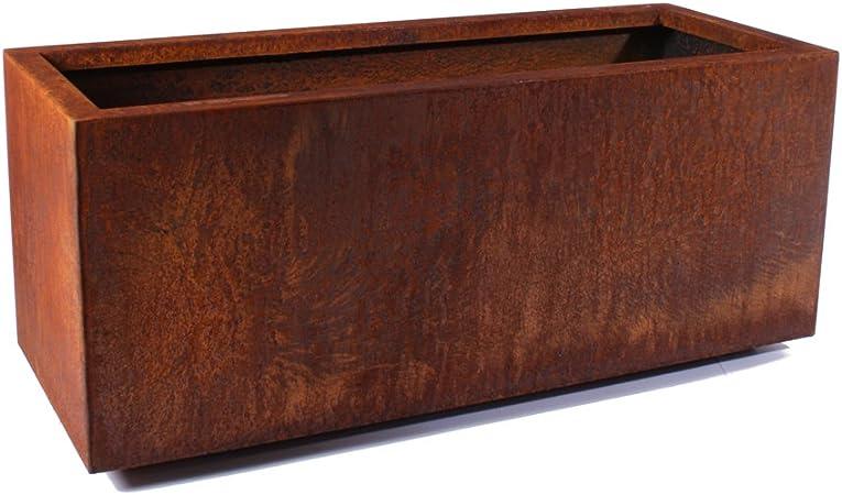 Amazon Com Veradek Metallic Series Corten Steel Large Long Box