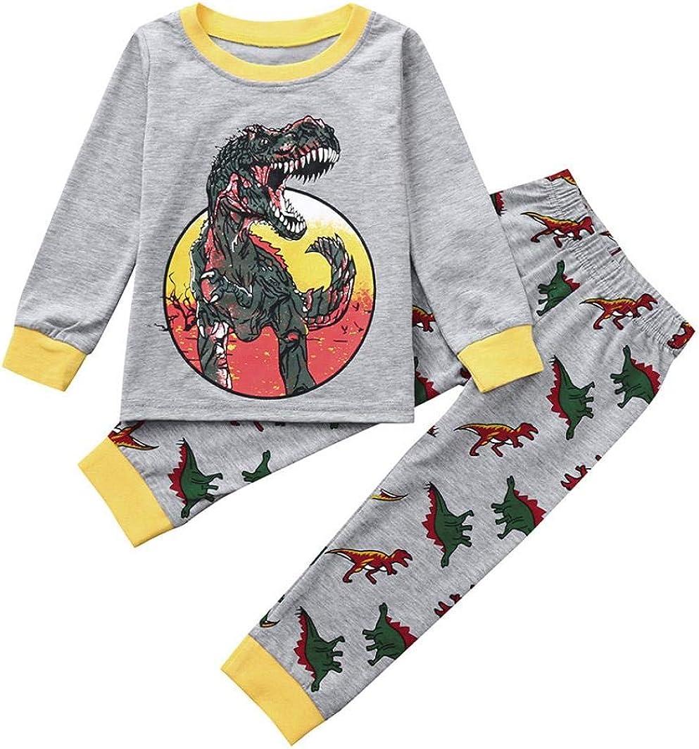 Pantalones Beb/é Traje de Bautizo Fiesta Ceremonia K-youth Ropa Bebe Ni/ño Invierno Oto/ño 2pcs Conjunto de Ropa Infantil de beb/é Ni/ño Ni/ña Dibujos Animados Dinosaurio Camisa de Manga Larga
