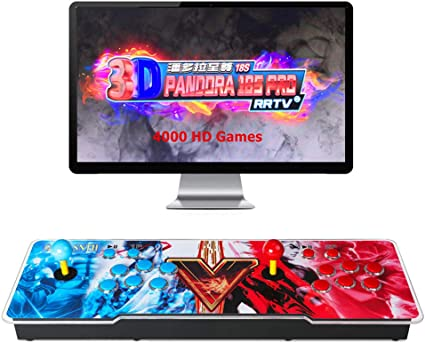 GWALSNTH 3D Pandora Box 18S Arcade Games Console, 4000 in 1 Full HD Display  Video Games Machine for Home, Multi Displayers, Research/Pause/Save/Resume  ...