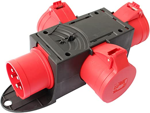 Stromverteiler Baustromverteiler CEE Adapter Kraftstrom Verteiler Starkstrom 32A