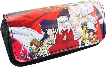 Fingertoys Inuyasha Kikyō - Estuche organizador de lápices de gran capacidad con doble cremallera, bolsa de maquillaje, artículos de papelería y escuela: Amazon.es: Oficina y papelería