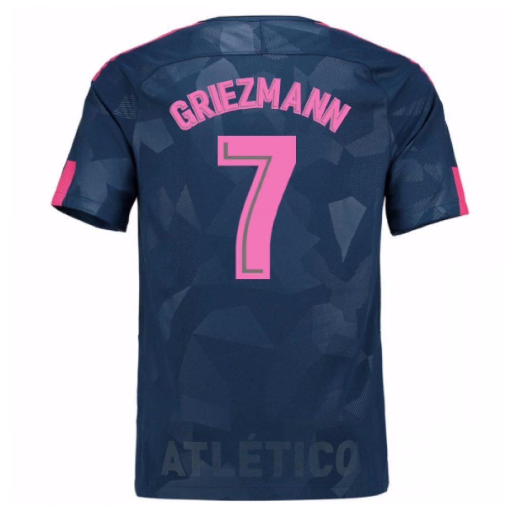 2017-18 Atletico Madrid Third Football Soccer T-Shirt Trikot (Antoine Griezmann 7) - Kids