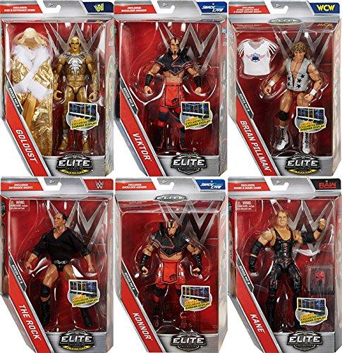 WWE Elite 47.5 - Complete Set of 6 Mattel Toy Wrestling Action Figures