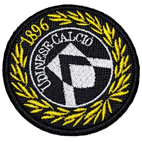 TIIT055T Udinese Calcio Italia Shield Football Soccer Embroidered Patch Iron or Sew Size 2.75x2.75 ()