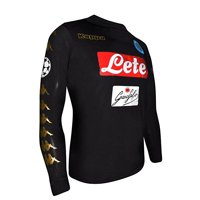 Kappa playera jersey Futbol Caballero M. Larga Napoli Gala Negro Talla XL   Amazon.com.mx  Ropa 3ba4869e8b837