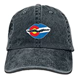 LETI LISW Colorado State Flag LipsVintageBaseball Cap Adult Unisex Adjustable Cap