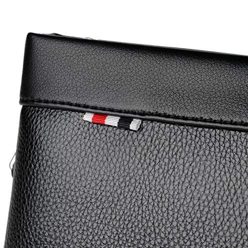 Pandamama Men Briefcase Business Male Single Shoulder Bag Soft Leather Litchi Bags