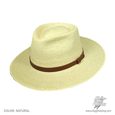 2828de6ab9455 SunBody Hats Tear Drop Guatemalan Plam Leaf Straw Fedora Hat (6 7 8)