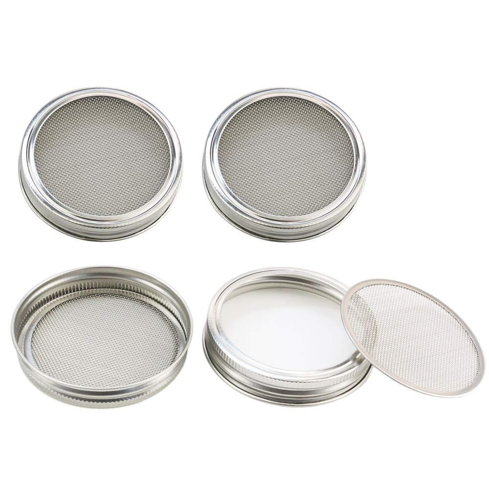Orgrimmar - Tapas de acero inoxidable para jarra de malla curvada para una excelente ventilación. - Usa tarros de masón de boca ancha para hacer semillas ...