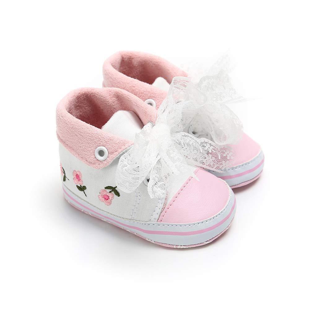 White 11cm Alamana Fashion High Top Infant Baby Girl Boy Soft Anti-Slip Prewalker Toddler Shoes Gift
