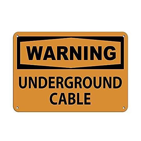 Warning Underground Cable Hazard Sign Warning Safety Retro ...