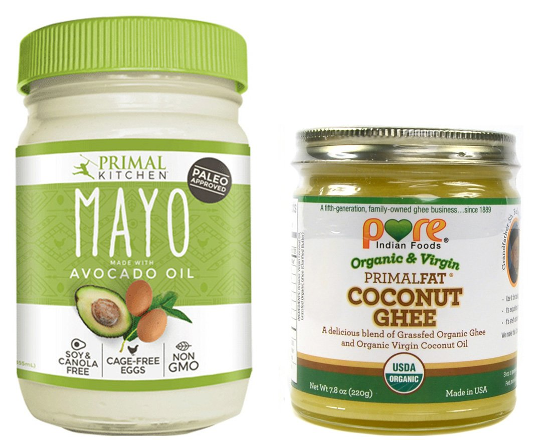 Primal Kitchen Paleo Avocado Oil Mayo and Pure Indian Foods Primalfat Coconut Ghee Combo Pack