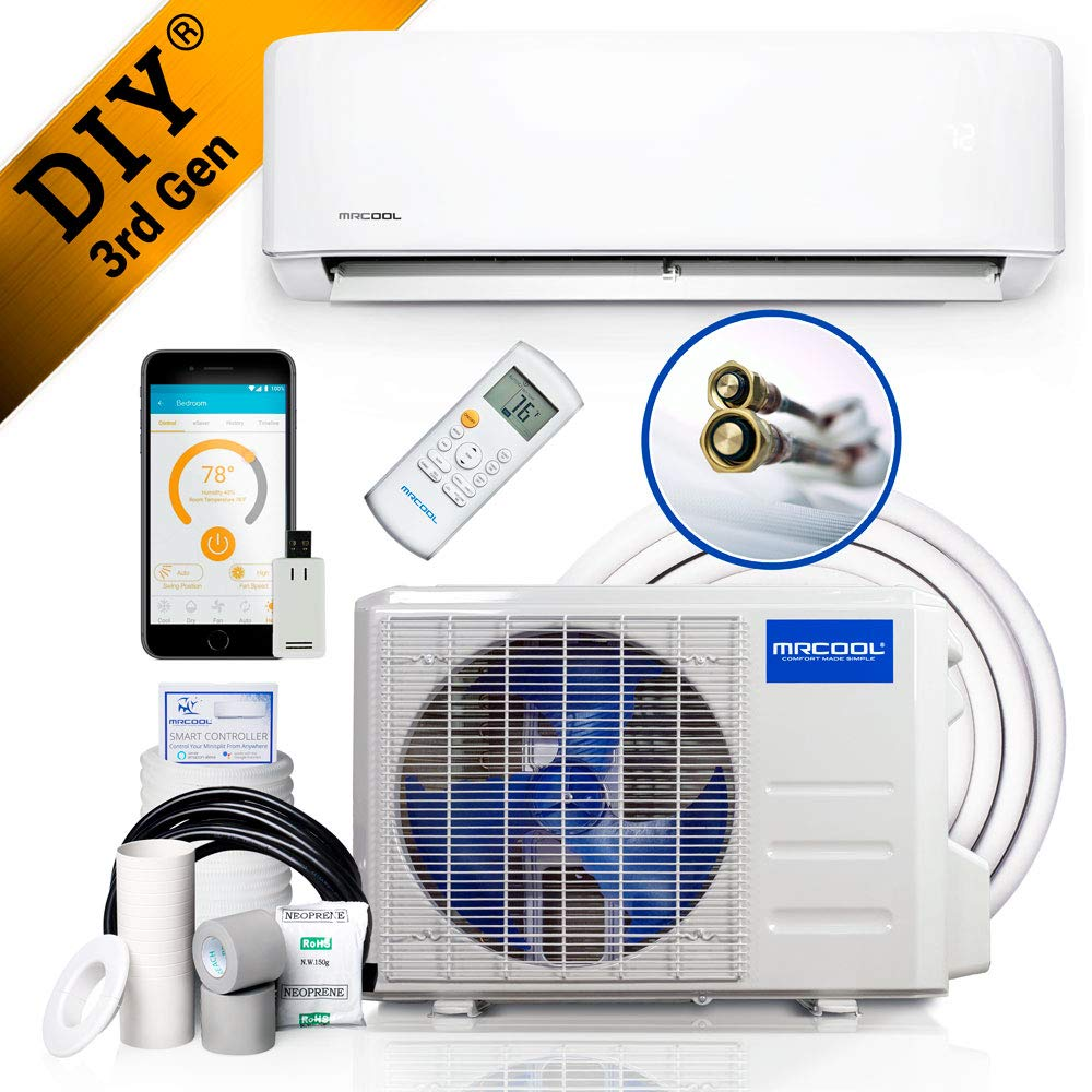 MRCOOL DIY 24k BTU 20 SEER Ductless Heat Pump Split System 3rd Generation - Energy Star 230v, 24,000 BTUs(DIY-24-HP-230B)