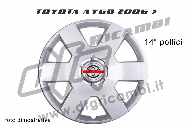 Copri aro - Copa Rueda - Trago Toyota Aygo 2006 > 14 pulgadas: Amazon.es: Coche y moto