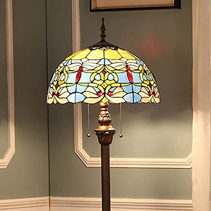 Lámpara de pie estilo Tiffany para el dormitorio sala de ...