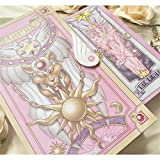 Mikucos 56PCS Card Captor Sakura KINOMOTO SAKURA Comic Edition Clow Cards Full Set Gift Pink