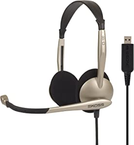 Koss Communications USB Headset with Microphone (CS100-USB),White