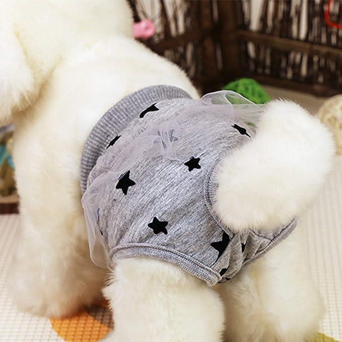 Balacoo Pantal/ón Sanitaria para Perros Mascotas Bragas para Perros en Celo Pa/ñales Lavables y Reutilizables para Perros Cachorros
