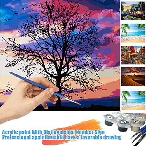 [해외]DIY Digital Oil Painting Color Painting Without Inner Frame Painting Suitable for Home Wall Decoration (D) / DIY Digital Oil Painting Color Painting Without Inner Frame Painting Suitable for Home Wall Decoration (D)