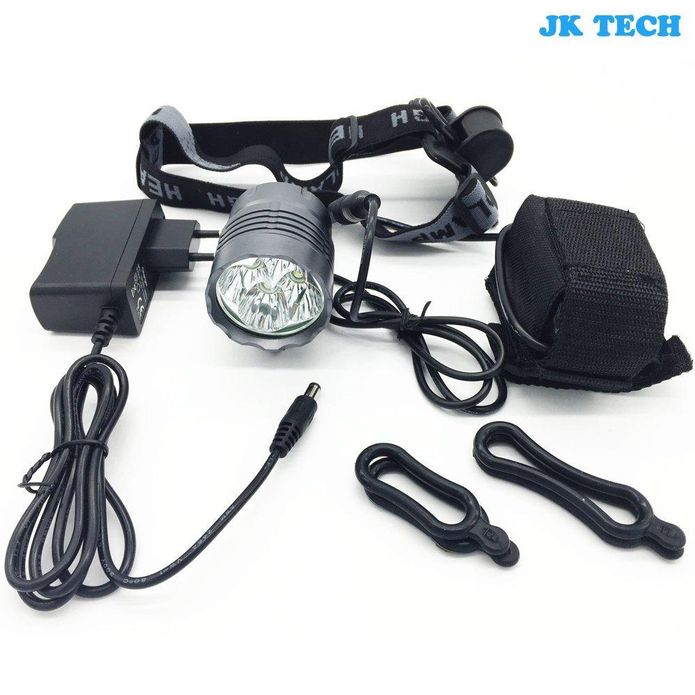 jkcs 8000Lumen 4x CREE XML T6LED Fahrrad Licht Fahrrad Front Scheinwerfer Lampe mit 18650Akku Pack und UK Ladegerät