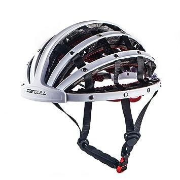 Casco,Ciudad de Ocio Entretenimiento Deportivo Casco Casco Bicicleta Plegable Ajustable, Hombres y Mujeres