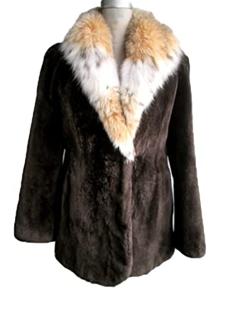 1c969e493 Image Unavailable. Image not available for. Color: Women's New Brown  Sheared Beaver Fur Coat Jacket ...