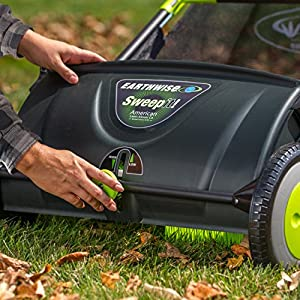 Earthwise LSW70021 Sweep it! 21-inch Push Lawn Sweeper with Removable 2.6 Bushel Collection Bag and Adjustable Sweeping Height