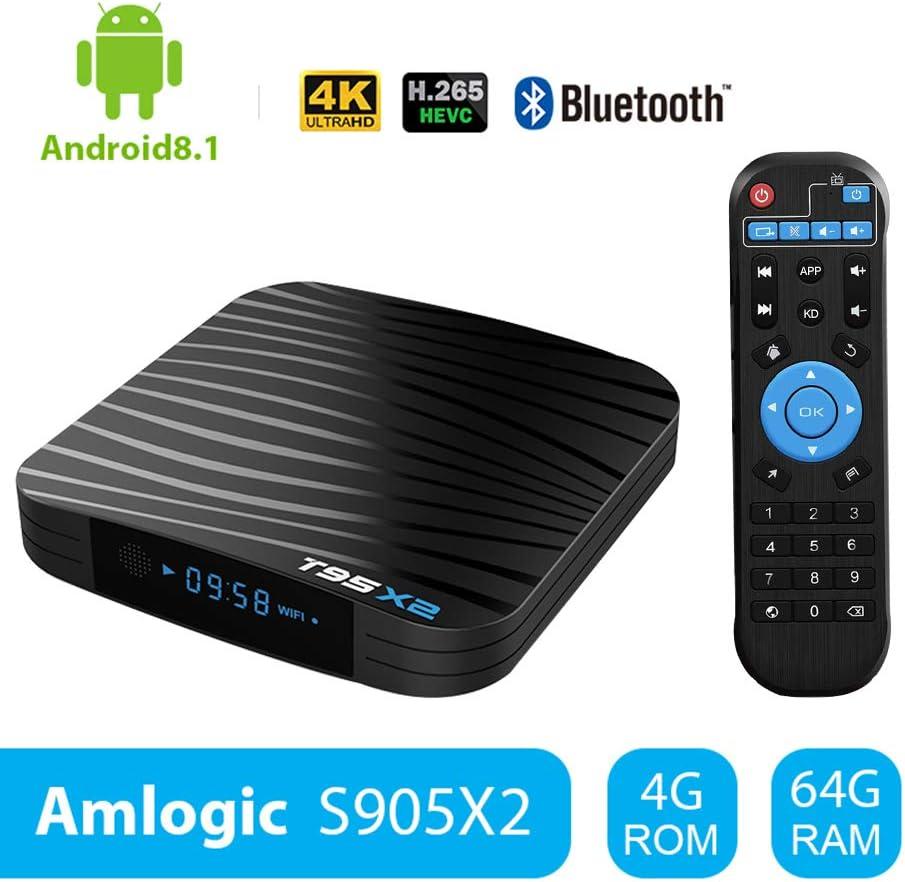Sidiwen T95X2 Android 8.1 TV Box 4GB 64GB Amlogic S905X2 Quad Core ...
