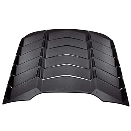 Amazon.com  CUMART Rear Window Louvers Windshield Sun Shade Cover Lambo  Style Matte Black For 2015 2016 2017 2018 Ford Mustang(Ford Mustang)   Automotive 86457f75d55