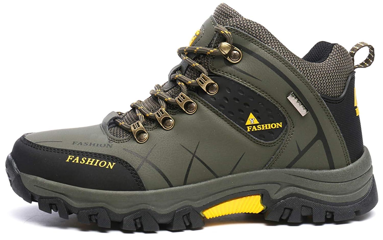SKDOIUL Men Waterproof Outdoor Winter Hiking Snow Boots